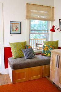 crib mattress as a bench seat!