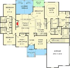 Plan 36073DK: Split Bedroom Craftsman House Plan