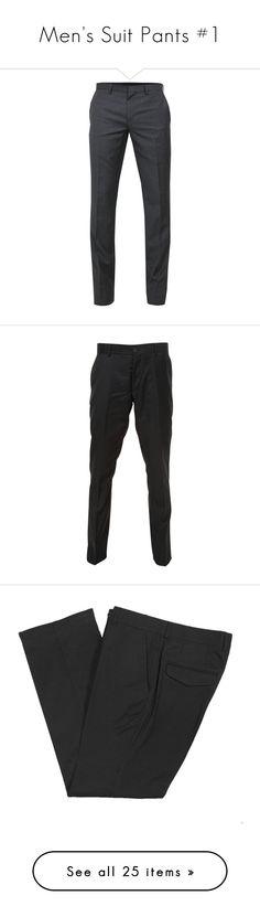 """Men's Suit Pants #1"" by eve027 ❤ liked on Polyvore featuring pants, men, bottoms, jeans, men's pants, j. lindeberg pants, zipper pocket pants, slim-fit trousers, dark gray pants and slim wool pants"