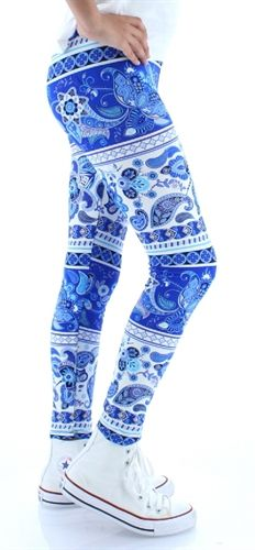Girls Leggings  Buskins. KIDS Ocean Petals