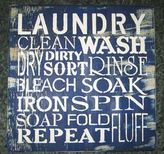 Laundry.....wall hanging/ weathered looking/ by hilltopprims