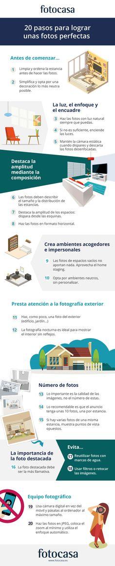20 pasos para hacer unas fotos perfectas de tu casa #infografia