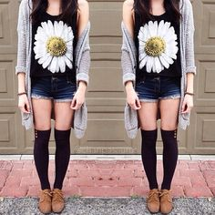 cute hipster outfit for summer Teen Fashion, Fashion Outfits, Womens Fashion, Fashion Trends, Ootd Fashion, Fashion Ideas, Soft Grunge, Grunge Style, Spring Summer Fashion