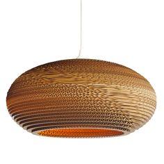 Gray Pants Pendant Ceiling Lamp   Disc Cardboard Hanging Light