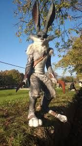 That is an amazing Easter Bunny cosplay from Rise of the Guardians! =0,0= Super Hero shirts, Gadgets & Accessories, Leggings, 50%OFF. #marvel #gym #fitness #superhero #cosplay lovers