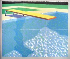 Diving Board with Shadow, 1978 by David Hockney on Curiator, the world's biggest collaborative art collection. David Hockney Pool, Hockney Swimming Pool, Swimming Pools, David Hockney Artwork, Pool Paint, Pop Art Movement, Diving Board, Ipad Art, Art Design