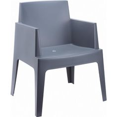 Compamia Box Resin Outdoor Dining Arm Chair
