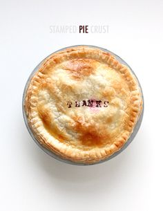 stamped pie crust