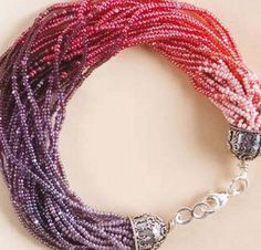 "Combine subtle to darker shades to create this beautiful ""Cascade of Shades"" beaded bracelet. One of 6 free bracelet patterns in our bracelet eBook!"