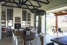 Rockwood Farmhouse is set on Spitzkop Farm, on the doorstep of the extraordinary natural gem that is the Karkloof Nature Reserve. Open House Plans, Kwazulu Natal, Rental Property, Contemporary Architecture, Open Plan, Farm Life, Glass Door, Living Area, Farm Family