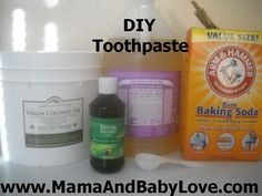 DIY Toothpaste.  SO much healthier for your teeth and gums and cheaper!