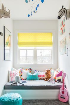 Once an attic, this contemporary playroom by Kendall Simmons features maps, globes and even a tent to stimulate the young imagination. Visit HGTV.com for more photos.