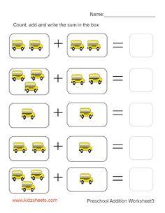Preschool Addition (Sheet3)