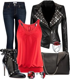 """""""Strappy Studded Ankle Boots"""" by stay-at-home-mom on Polyvore"""