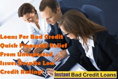 Loans For Bad Credit – Quick Financial Relief From Unexpected Issues Despite Low Credit Rating!- https://instantbadcreditloans.quora.com/Loans-For-Bad-Credit-%E2%80%93-Quick-Financial-Relief-From-Unexpected-Issues-Despite-Low-Credit-Rating