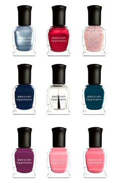Whether it's a girls' night out or a romantic date night, this set of nine fashion-sized nail colors has a shade for any event.