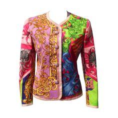 Gianni Versace Couture Baroque/Seashell Print Jacket Spring/Summer 1992   1stdibs.com