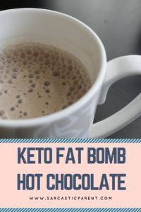 Everybody loves hot chocolate, but on a keto way of life, regular hot chocolate is just not possible for me. The amount of sugar will give me a serious stomach ache the next day and not worth it for many. My daughter loves hot chocolate and I just look at her with severe jealously when she slurps down her own non-keto hot chocolate. I think she drinks it extra loud just to piss me off.