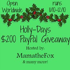 Holly Days $200 Giveaway