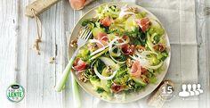 Salade van venkel, appel, walnoten en luxe ham