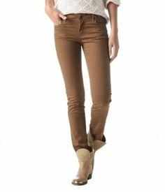 Spodnie slim kawowy - Promod