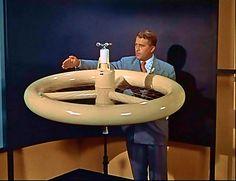 """1955,  Von Braun space station from Disney film """"Man in Space"""""""