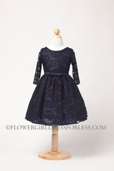 Navy Blue Taffeta Flower Girl Dress Infant Toddler by autoalive ...