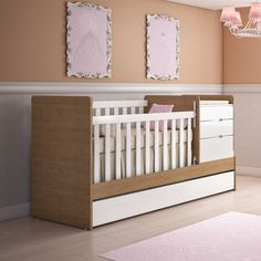 Escolher o berço vai ser fácil com este que vira cama! #berço #berço2em1 #decoração #design #madeiramadeira