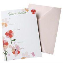 Gartner Studios Floral Fill-in Invitation, 10ct