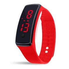 Fashion 11 color Men women red led watches Silicone Women's Bracelet led watch LED Digital Girls Sports Wrist Watch