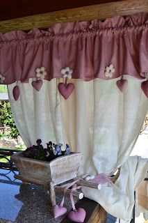 da favola Diy Curtains, Kitchen Curtains, Window Dressings, Shabby Chic Decor, Shabby Chic Bedrooms, Window Treatments, Window Coverings, Hobby Room, Drapery