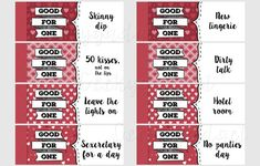 Naughty Coupon Book 16 printable coupons for by Geekygadget