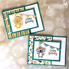 I love it when a card design can be used in more than one way. These are Gift Card Holders but they could also be a Fun Fold Birthday Card. Scott Hansen, Fun Fold Cards, Folded Cards, Kids Cards, Baby Cards, Kids Birthday Cards, Stamping Up Cards, Free Gift Cards, Paper Cards