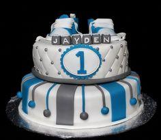 1e verjaardagstaart jongen Cakes For Boys, Baby Shower Cakes, Baby Pictures, Birthday Cake, Birthday Ideas, Fondant, Food And Drink, Desserts, Recipes