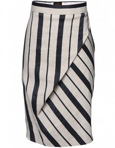 Vivienne Westwood Anglomania Vivienne Westwood Striped Philosophy Skirt