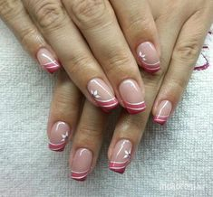 New Ideas For French Pedicure Designs Art Tutorials French Manicure Nails, French Pedicure, French Tip Nails, Manicure And Pedicure, Pedicure Designs, Gel Nail Designs, Cute Nails, Pretty Nails, Hair And Nails