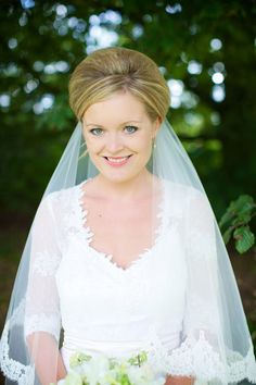 beautiful bride Julie - Read more on One Fab Day: http://onefabday.com/a-marquee-wedding-by-elisha-clarke/