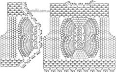 Болеро Бабочка крючком. Описание. Схема. Выкройка