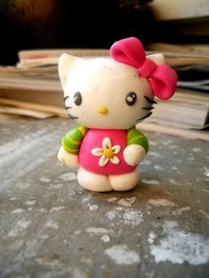 hello kitty  fimo sculpey polymer clay