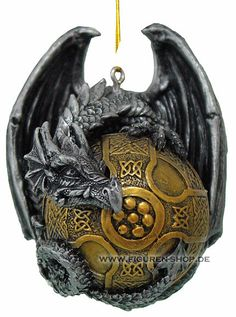 Christmas Bauble - Dragon gothic