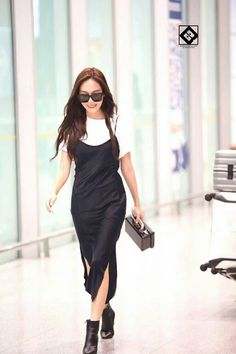Jessica Jung at Beijing Airport.