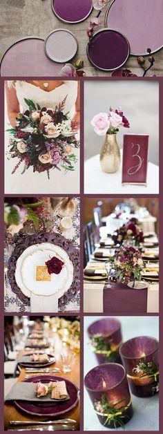 plum wedding color inspiration for 2017