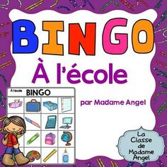 La Rentrée:  Back to School Themed Bingo Game in French from LaClassedeMadameAngel on TeachersNotebook.com (17 pages)