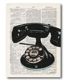 Another great find on #zulily! Telephone Wrapped Canvas #zulilyfinds