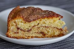 A simple and delicious coffee cake with cinnamon sugar by Pille @ Nami-Nami