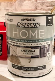 Before you rip out your ugly bathroom tile, you should read this! We changed our bathroom tile for $150 bucks and it looks amazing! Tub And Tile Paint, Painting Bathroom Walls, Painting Shower, Tile Painting, Bath Paint, Diy Flooring, Kitchen Flooring, Shower Remodel, Bathroom Renovations