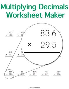 math worksheet : decimals worksheets multiplying decimals and decimal on pinterest : Custom Multiplication Worksheets
