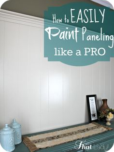 Are you wondering how to paint over wood paneling? There are so many posts found on google that make it so much more complicated than it really it. Here is a simply tutorial on how to paint it like a pro!