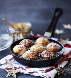 æbleskiver, les petites crêpes danoises spécialité de Noël #hygge #hyggefood #æbleskiver #crêpes #pancakes #danish #danois #nordique