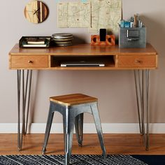 Hairpin Leg Desk Plan